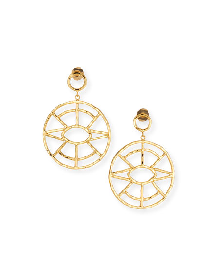 Evil Eye Hoop Drop Earrings