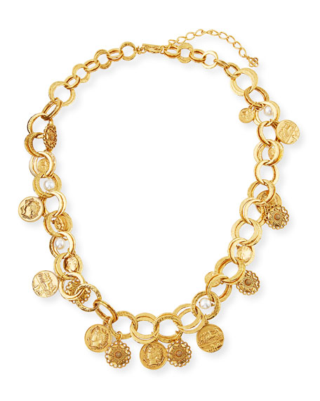 Oscar de la Renta Double-Chain Charm Necklace