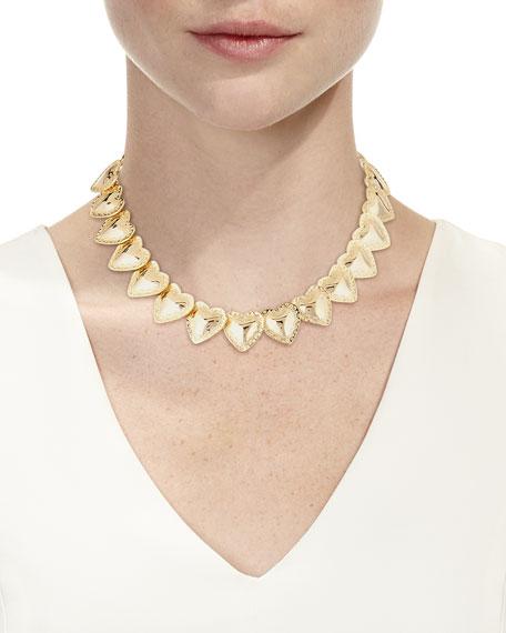 Fallon Heart-Station Necklace
