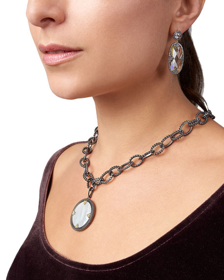 Freida Rothman Imperial Linked Mother-of-Pearl Pendant Necklace