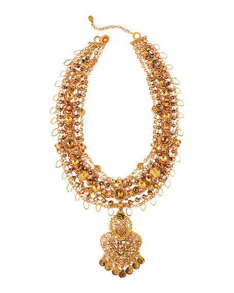 Jose & Maria Barrera Beaded Necklace with Detachable Pendant