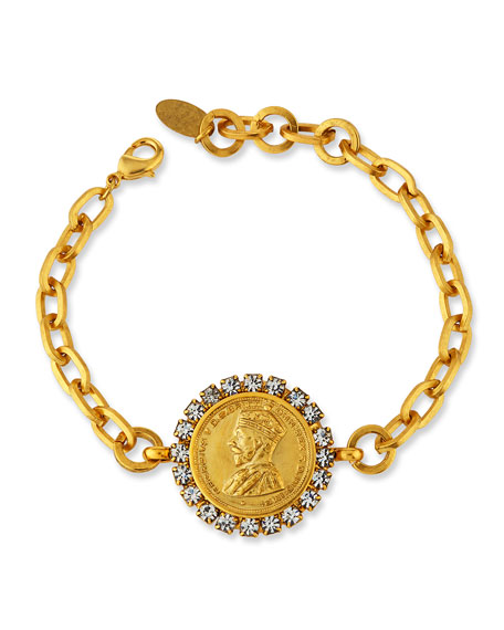 Image 1 of 2: Elizabeth Cole Caswell Coin Bracelet
