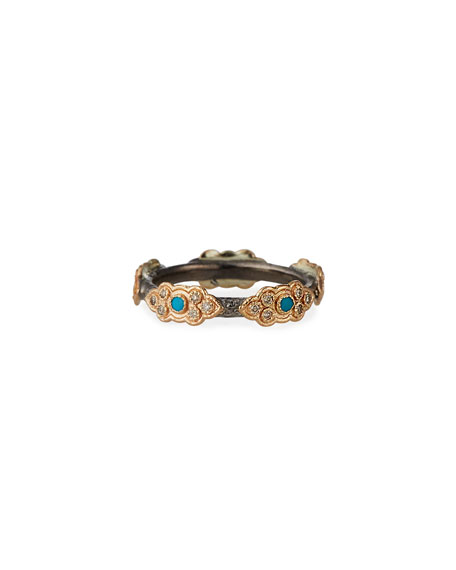 Armenta Cuento Sculpted Diamond Scroll Ring, Size 6.5