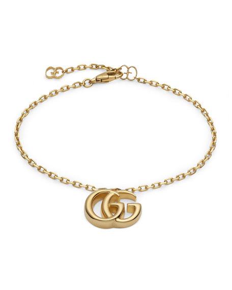 Gucci 18k Yellow Gold Running G Bracelet