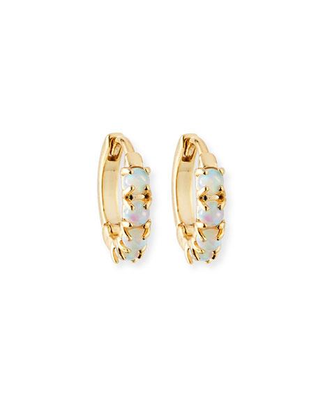 Tai Opalescent Huggie Hoop Earrings