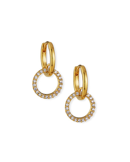 Tai Huggie Earrings w/ Pave Cubic Zirconia Hoop