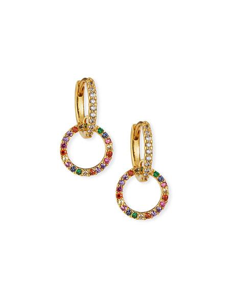 Tai Huggie Earrings w/ Double-Pave Cubic Zirconia Hoop