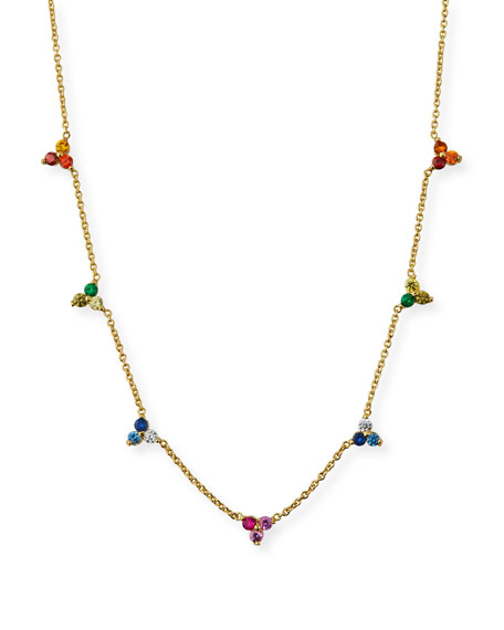 Tai Rainbow Ombre Cluster Necklace
