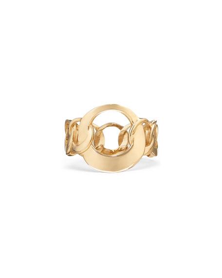 LANA 14k Large Bond-Link Ring, Size 6 & 7