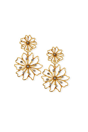 Elizabeth Cole Annabelle Flower Earrings