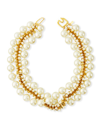 Pearl-Beaded Necklace