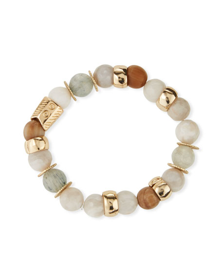 Image 1 of 3: Akola Quartz & Agate Stretch Bracelet