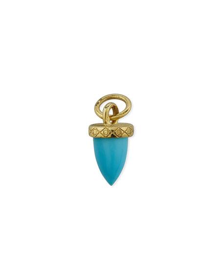 Jude Frances 18K Petite Turquoise Bullet Earring Charm, Single