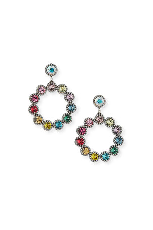 Dannijo Bella Crystal Hoop-Drop Earrings