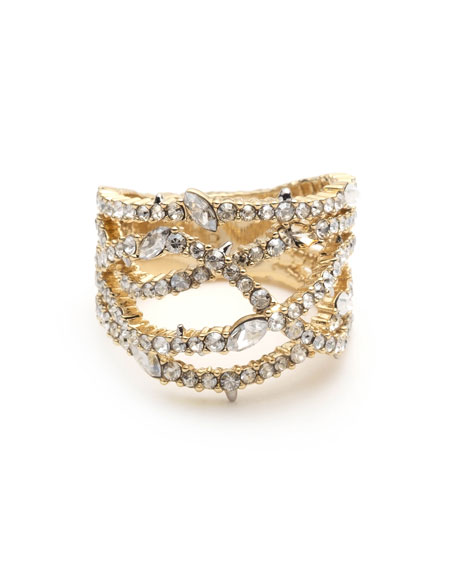 Image 2 of 3: Alexis Bittar Pave Orbiting Ring, Size 7