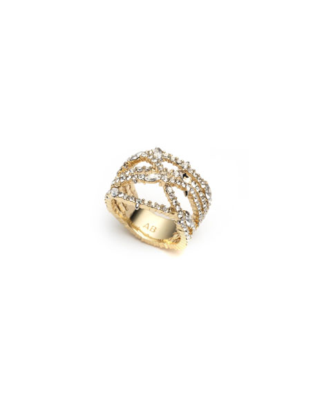 Image 1 of 3: Alexis Bittar Pave Orbiting Ring, Size 7