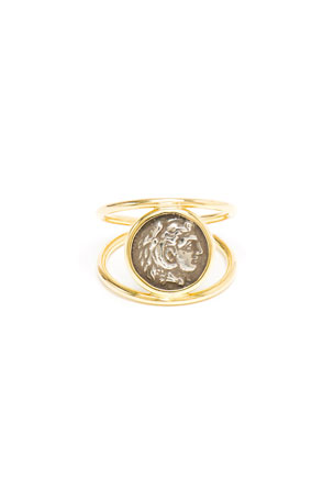 Dubini 18k Alexander the Great Ring, Size 5.75-6.75