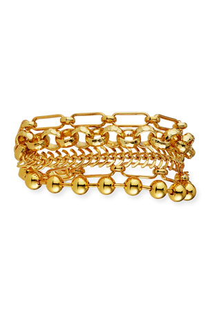 NEST Jewelry Gold Chain Multi-Strand Bracelet