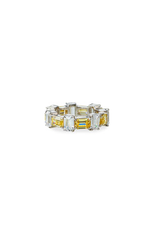 Fantasia by DeSerio Alternating Cubic Zirconia Ring, Size 6-8