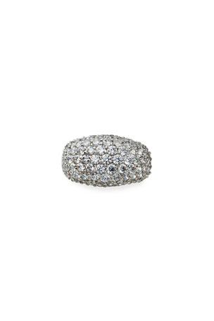 Fantasia by DeSerio Cubic Zirconia Pave Dome Ring, Size 4-8