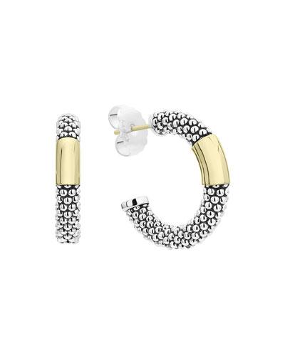 High Bar Hoop Earrings  27mm