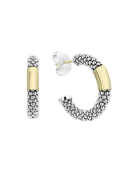 Image 1 of 4: Lagos High Bar Hoop Earrings, 27mm