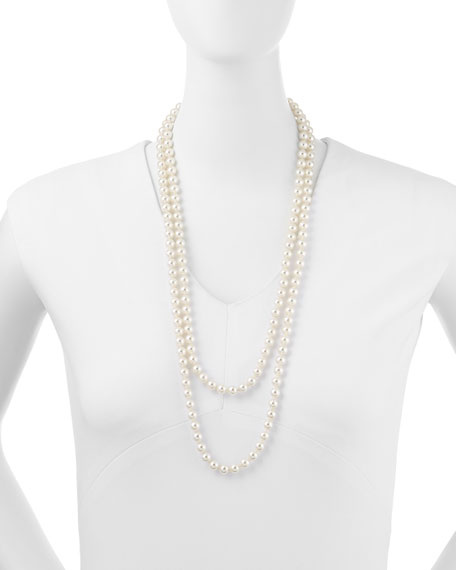 "Pearl Strand Necklace, 60""L"