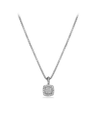 Petite Albion Pendant with Diamonds on Chain