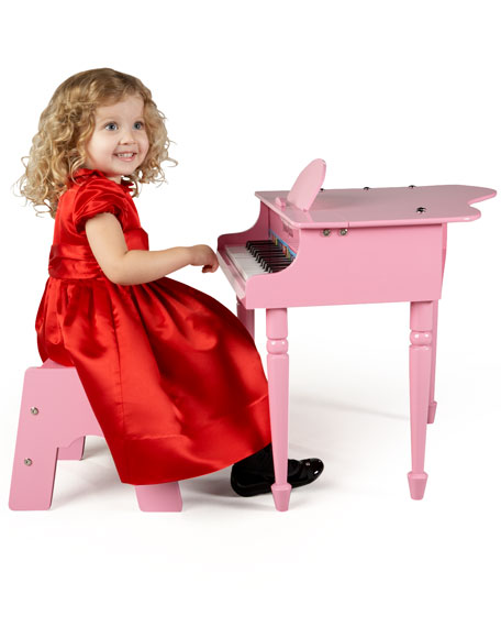Image 2 of 2: Melissa & Doug 30-Key Mini Grand Piano, Pink