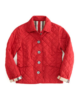Burberry Military Red Quilted Jacket