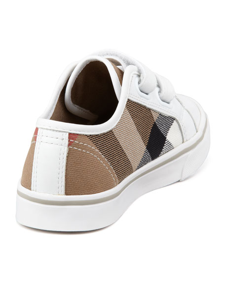 Check Double-Strap Sneaker, Toddler