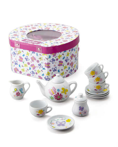 NM BUTTERFLY PORCELN TEA SET