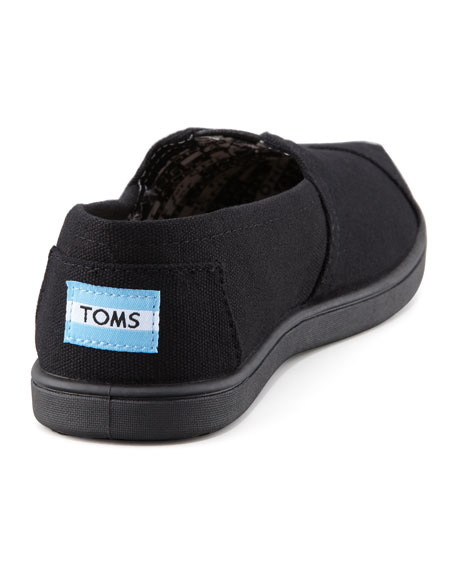 Personalized Classic Canvas Slip-On, Black, Youth