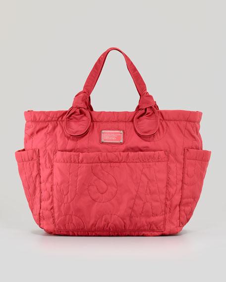 MARC by Marc Jacobs Eliz-A-Baby Pretty Nylon Diaper Bag, Rose Petal