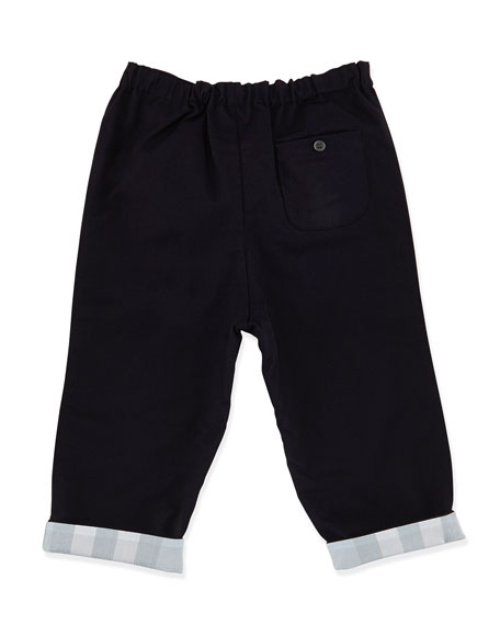 Casual Cotton Trousers, Blue, 3-18 Months