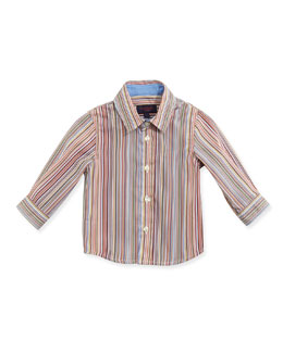 Paul Smith Classic Stripe Poplin Shirt, Boys' 3M-3T