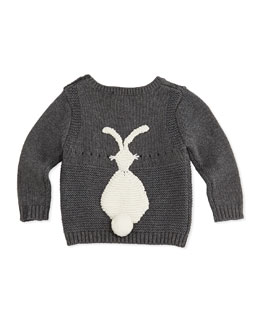 Stella McCartney Baby Bunny Sweater, Gray, 3-24 Months