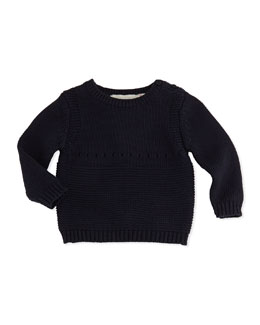 Stella McCartney Baby Bunny Knit Sweater, Navy, 3-24 Months