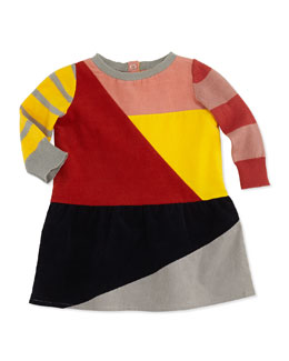 Stella McCartney Colorblock Corduroy Dress, 3-24 Months