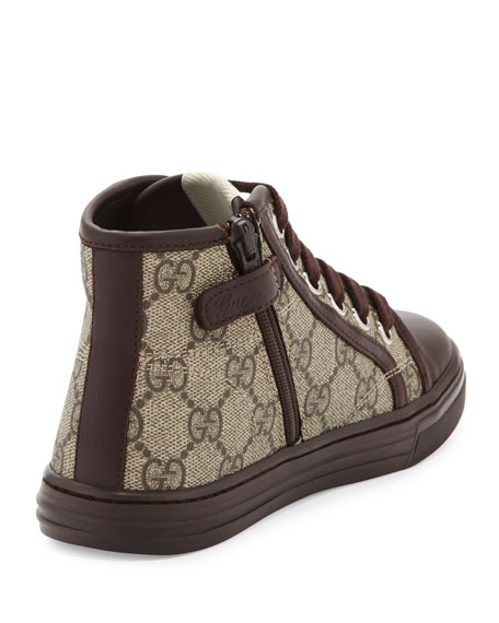 GG Supreme Canvas High-Top Sneakers, Toddler/Kids
