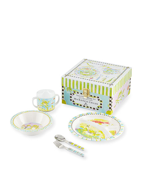 MacKenzie-Childs Boys' Frog Dinnerware Box Set