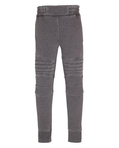 Axl Moto-Style Sweatpants, Pavement, Size 4-12