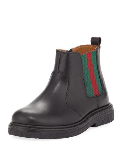 Joshua Leather Chelsea Boot, Black, Toddler Sizes 9-10