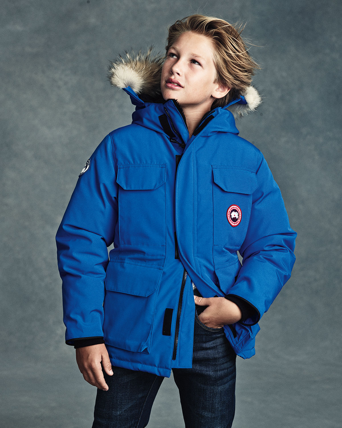 d7cecdfa9c1 Canada Goose PBI Expedition Hooded Parka, Royal Blue, Size XS-XL | Neiman  Marcus