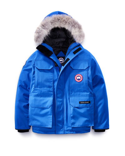 PBI Expedition Hooded Parka, Royal Blue, Size XS-XL