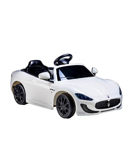 Ride On Cars Kids Maserati Gran Cabrio White Neiman Marcus