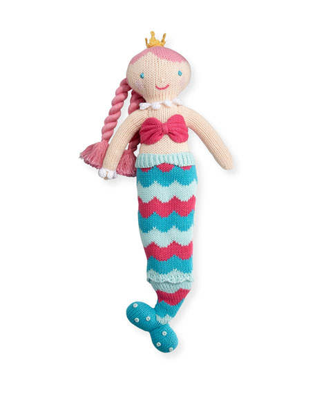 Zubels Cotton Mermaid Doll, Multicolor
