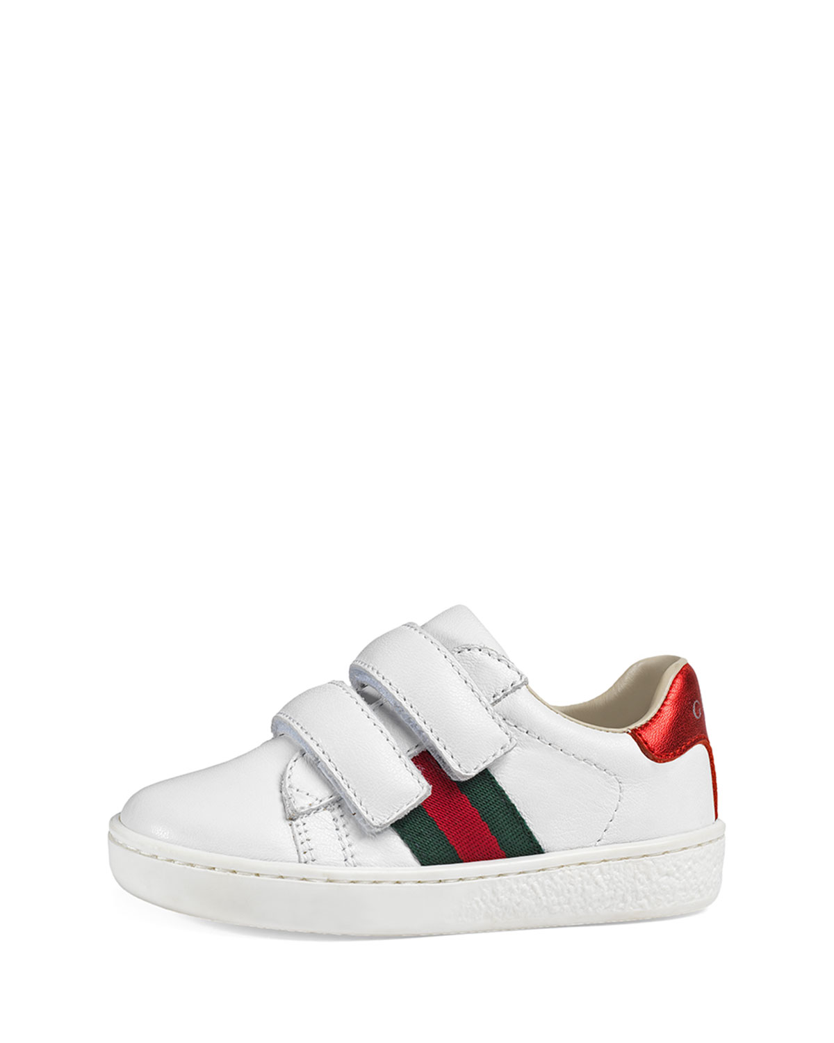 4cf68c48b1c Gucci Leather Grip-Strap Sneakers