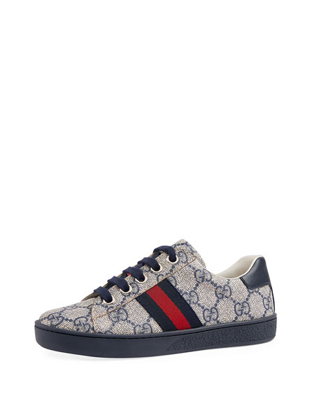 Gucci New Ace GG Tennis Shoe, Toddler/Youth Sizes