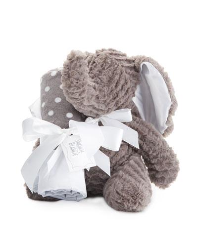 Ziggy Elephant & Blanket Gift Set, Slate